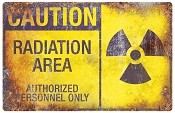 Metal Sign - Radiation Area