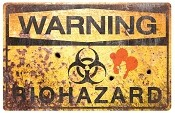 Metal Zombie Biohazard Sign