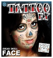 FX Sugar Skull Face Tattoo
