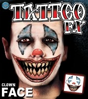 FX Clown Face Tattoo