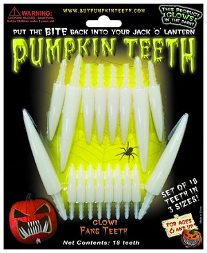 Pumpkin Fang Teeth Glow-in-the-Dark