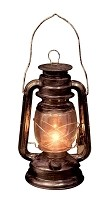 Light Up Old Lantern Prop
