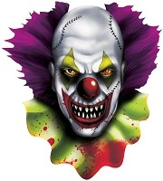 Creepy Carnival Clown Cutout