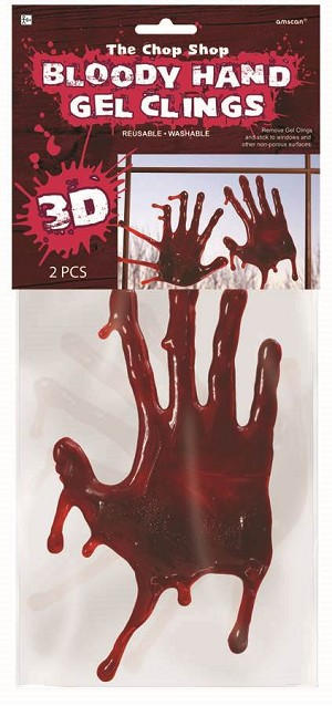 Chop Shop 3-D Bloody Hand Gel Clings