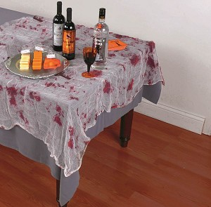 Chop Shop Bloody Gauze Tablecloth