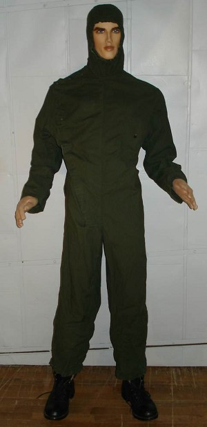 Military Style Green Jumpsuit with Hood