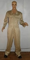 Military Style Tan Jumpsuit