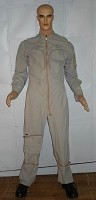 Military Style Light Grey Jumpsuit