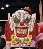 Giant 5 Ft Fiberglass Deluxe Scary Clown Head