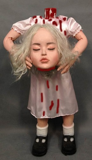 4 FT Girl with Severed Head Prop