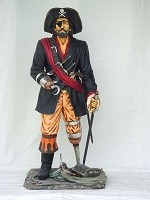 6 Ft Peg Leg Pirate Fiberglass Statue
