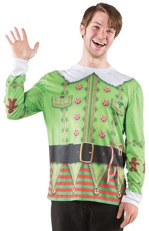"Ugly Christmas Sweater ""Elf""- Large"
