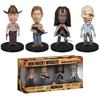 The Walking Dead 4pc MINI Wacky Wobbler Set