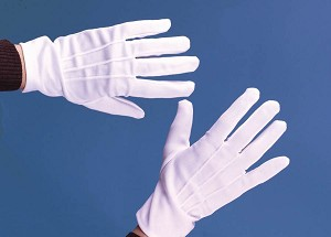 Deluxe Theatrical White Gloves with Snap