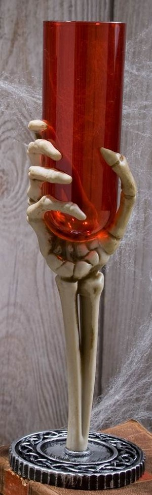 Skeleton Hand Glass - Red