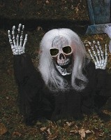 Zombie Grave Breaker with White Hair Prop