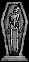 "30"" Coffin Skeleton Tombstone"