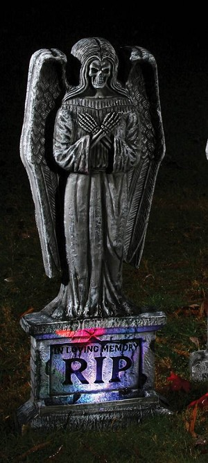 "30"" Skull and Angel Tombstone"