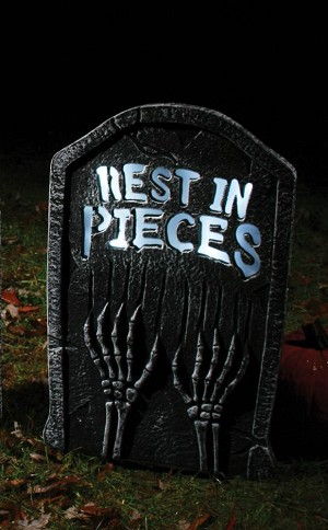 Strobing Rest in Pieces Tombstone