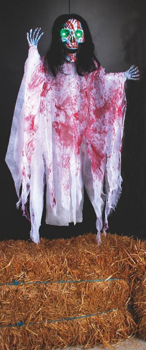 "36"" Hanging Light-Up White Bloody Reaper Prop"