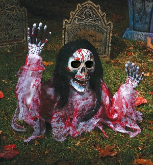 Bloody Grave Breaker with Black Hair Prop