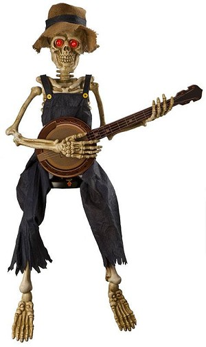 Animated Banjo Playing Skeleton