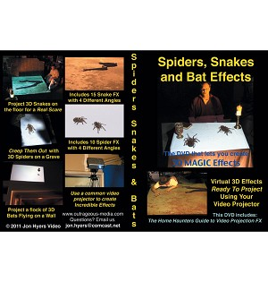 Spiders, Snakes, and Bats Special FX DVD
