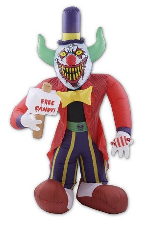 Free Candy Clown Inflatable - 8 FT