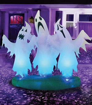 6 Ft Airblown 3 Floating Ghosts Prop