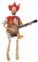 Animated Banjo Playing Skeleton Clown