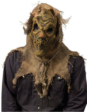 Gunny Sack Scarecrow Mask - Natural