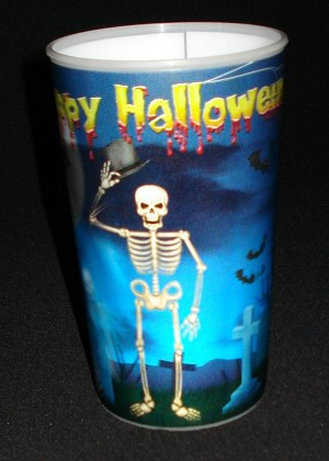 3D Lenticular Skeleton Party Cup
