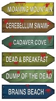 Zombie Zone Directional Signs