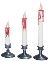 Set of 3 Blood Dripping Candles