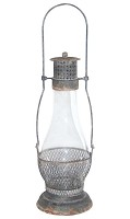 Tall Glass Lantern with Hanger