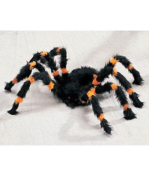 Small 2 Ft Orange and Black Spider