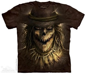 Menacing Scarecrow T-Shirt with Halloween Asylum Logo
