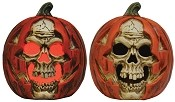 Light Up Skull Pumpkin Prop