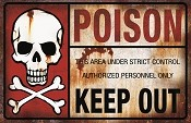 Poison Warning Metal Sign