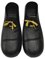 Black Plastic Adult Clown Shoes