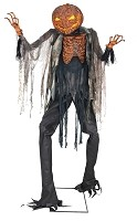 Scorched Scarecrow Animated Prop with Fog