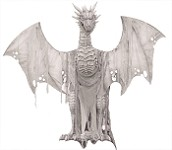 Winter Dragon 7ft Animated Prop