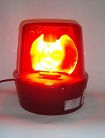 "10 "" Red Police Light Beacon"