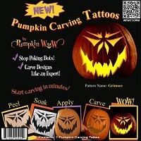 Pumpkin Wow Carving Tattoos - Grimace