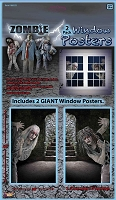 Zombie Window Posters 2 Pack