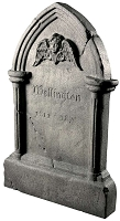 Tipping Tombstone Animated Prop