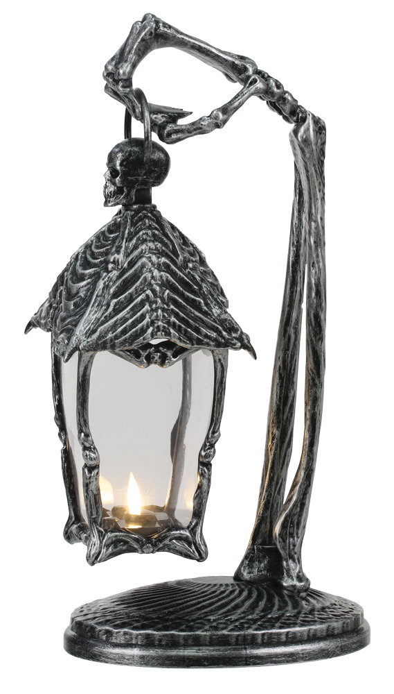 Skeleton Crew Metal Look Lantern Prop