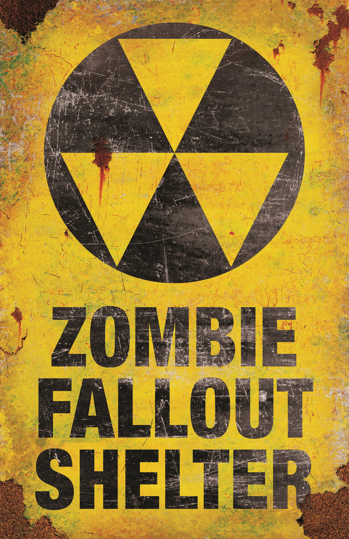 Zombie Fallout Shelter Metal Sign