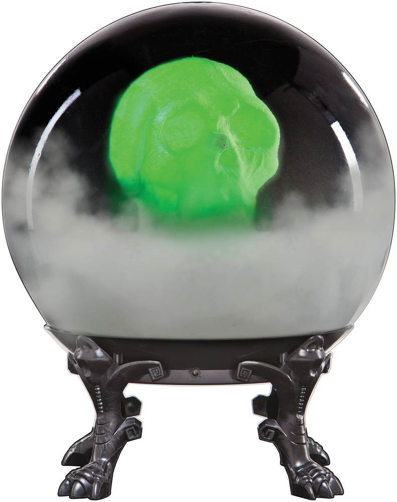 Crystal Ball with Animated Phantom Skull