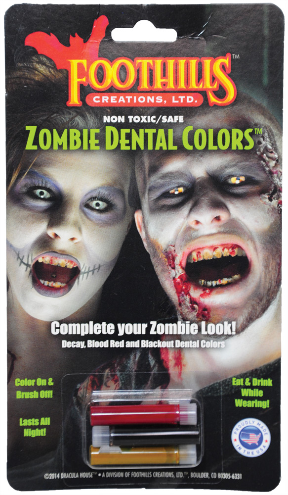 Zombie Dental Coloring